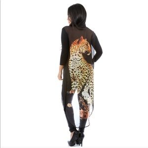 Tops - Leopard Overlay Top